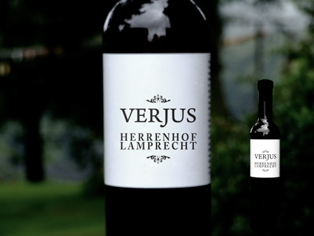Herrenhof estate Verjus - the bottle
