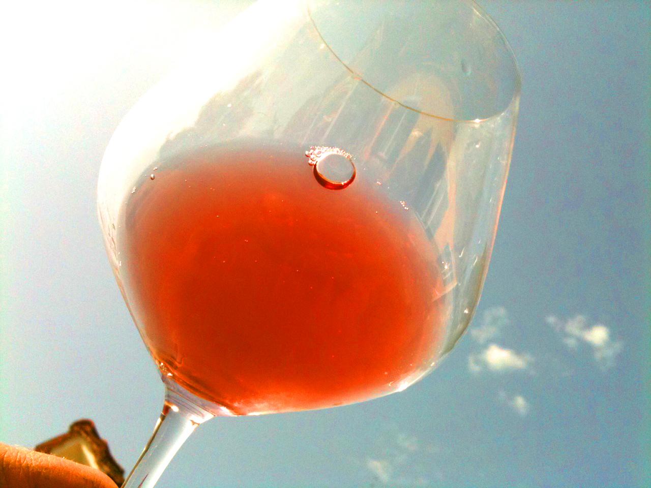 Rosé Burgundy Glass