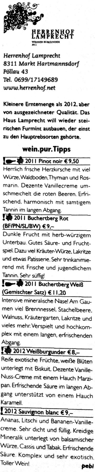 Wein.Pur Guide 2013